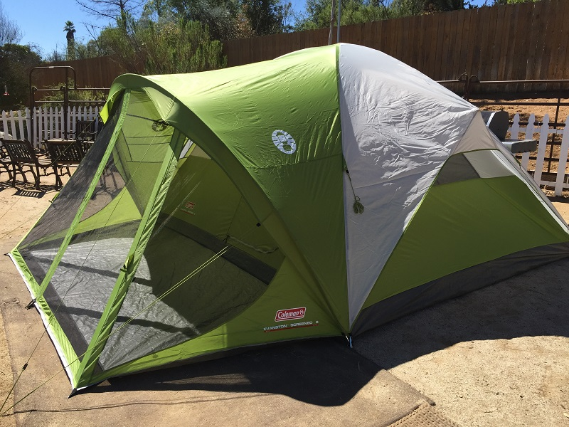 Coleman Evanston Screened 8 Tent : 6 person tent with screened porch - memphite.com